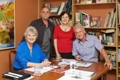 Beryl Stutchbury, Jack Condous, Betty Anderson, Jim Fenemore, RSASA Characters of the Fleurieu committee